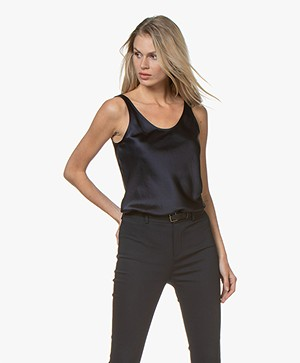 Filippa K Satin Slip Top - Navy