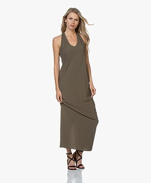 JapanTKY Ryos Travel Jersey Dress - Khaki