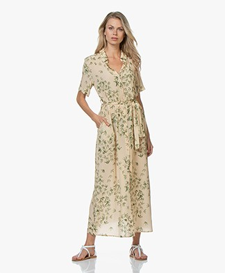 Denham Roxanne Printed Maxi Shirt Dress - Beige