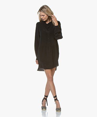 Denham Sylvie Cupro Blend Tunic Dress - Black