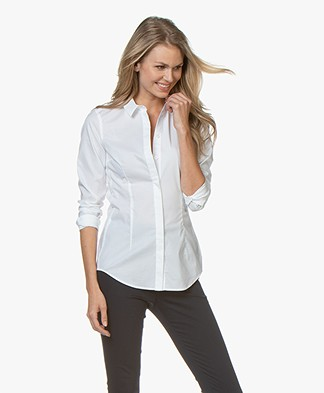 Drykorn Livy Basic Blouse - White