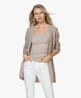 Resort Finest Nobile Cardigan in Cashmere Blend - Beige