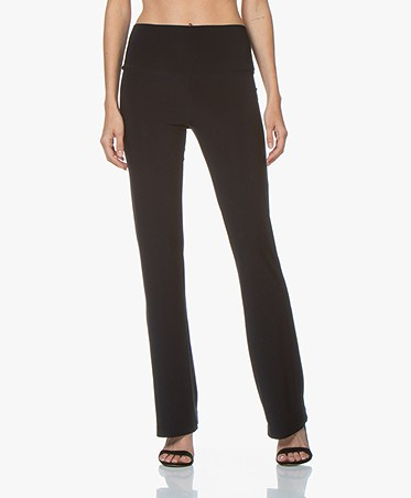 Norma Kamali Travel Jersey Boot Pant - Midnight
