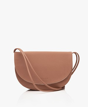 Monk & Anna Soma Half Moon Vegan Cross-Body Bag - Chestnut