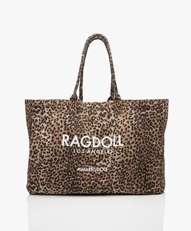 Ragdoll LA Holiday Canvas Bag - Brown Leopard