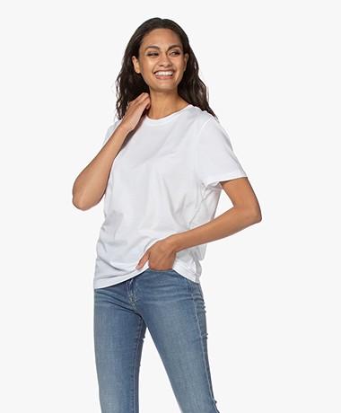 Joseph Cotton Short Sleeve T-shirt - White