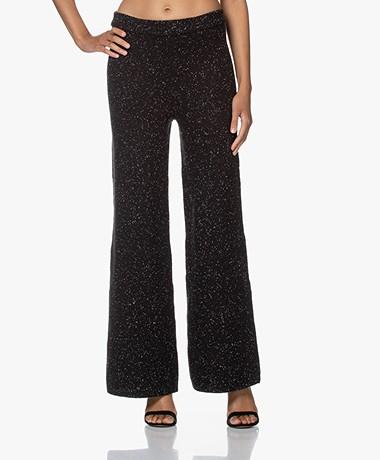 Joseph Knit Wool Pants - Black