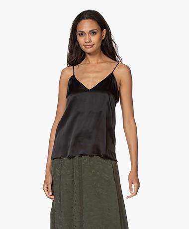 ANINE BING Gwyneth Slim Camisole in Silk - Black