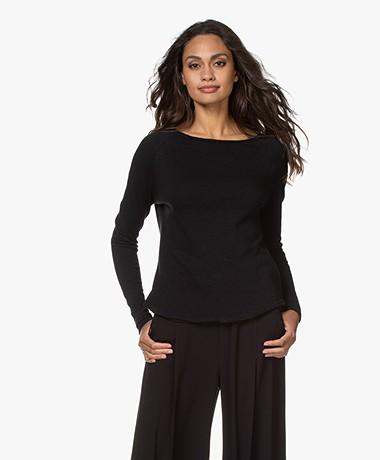 American Vintage Sonoma Slub Sweatshirt - Zwart