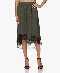 Zadig & Voltaire Joslin Silk Jacquard Jormi Skirt - Khaki