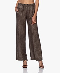 Pomandère Loose-fit Lurex Pants - Black/Gold