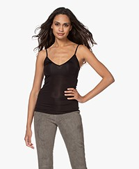 By Malene Birger Ziona V-neck Spaghetti Strap Top - Black