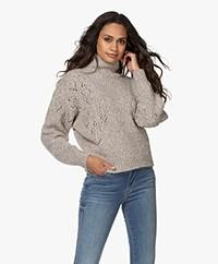 IRO Adyna Alpaca Mix Ajour Turtleneck Sweater - Mixed Beige