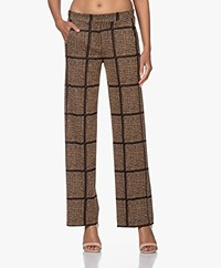 LaSalle Loose-fit Knitted Lurex Pants - Bronze