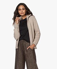 LaSalle Merino Wool Blend 2-way Zip Cardigan - Sand