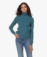 Repeat Cashmere Fine Knitted Turtleneck Pullover - Deep Lake