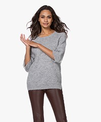 Sibin/Linnebjerg Rosie Mohair Blend Sweater - Sweat grey