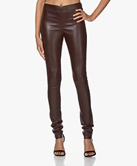 Joseph Leren Stretch Legging - Plum