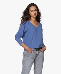 Denham Showa Scoop Neck Sweater - Dutch Blue
