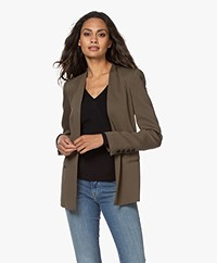 By Malene Birger Nivelle Tailored Open Blazer - Olive Night