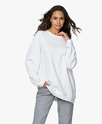 Filippa K Soft Sport Seam Oversized Sweatshirt - Wit