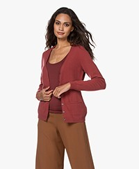 Repeat Cashmere Klassiek Vest - Terracotta