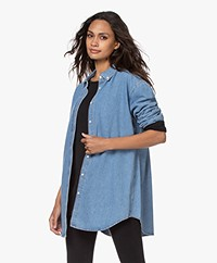 Denham Hamble Oversized Denim Shirt - Light Indigo