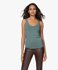 Majestic Filatures Abby Soft Touch Jersey Tank Top - Vert Toscane