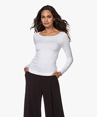 Majestic Filatures Soft Touch Jersey Long Sleeve - White