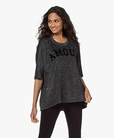 Zadig & Voltaire Portland Glitter Printed T-shirt - Black