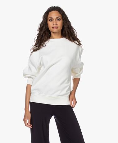Denham Deborah Katoenen Sweatshirt - Icicle White