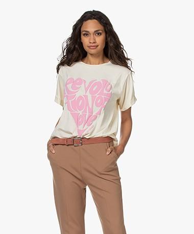 Love Stories Josie Print T-shirt - Off-white