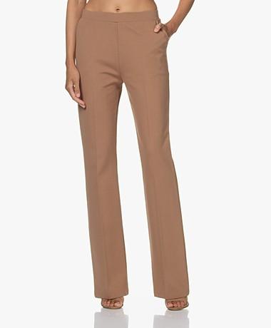 LaSalle Jersey Bootcut Pants - Camel