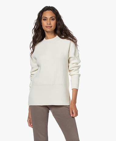 Drykorn Paslin Viscose and Wool Blend Sweater - Papyrus
