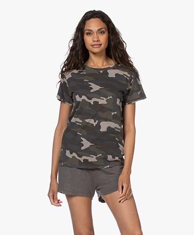 Ragdoll LA Vintage T-shirt met Camo Print - Army