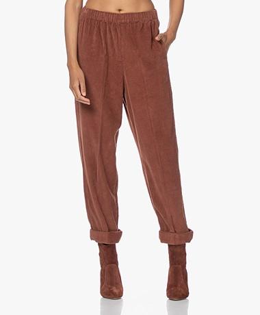American Vintage Padow Loose-fit Corduroy Pants - Desire