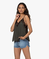 Zadig & Voltaire Christy Viscose Printed Camisole - Khaki