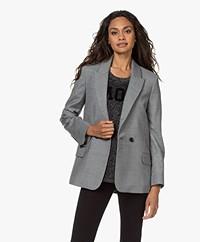 Zadig & Voltaire Visit Jormi Wool Blend Blazer - Grey