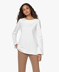 LaSalle Boothals Ponte Jersey Longsleeve T-shirt - Panna