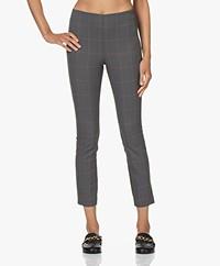 Rag & Bone Simone Slim-fit Checked Pants - Grey/Red