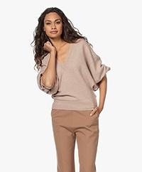 IRO Miami Merino Wool Blend V-neck Sweater - Light Taupe