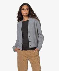 Closed Wool-Cashmere V-neck Cardigan - Grey Melange