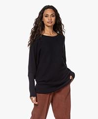 Sibin/Linnebjerg Breda Merino Wool Blend Sweater - Navy