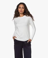 ba&sh Clara Cotton-Modal Blend Long Sleeve - Ecru
