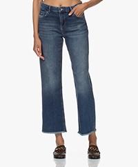 by-bar Mojo Raw-edge Rechte Cropped Jeans - Denim