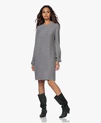 Drykorn Marisa Knitted Puff Sleeve Dress - Grey