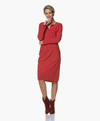 JapanTKY Kafu Striped Travel Jersey Dress - Red