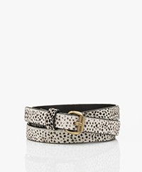 by-bar Julie Hairy Print Belt - Dots