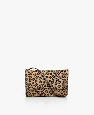 by-bar Julie Hairy Cross-body Tas - Leopard