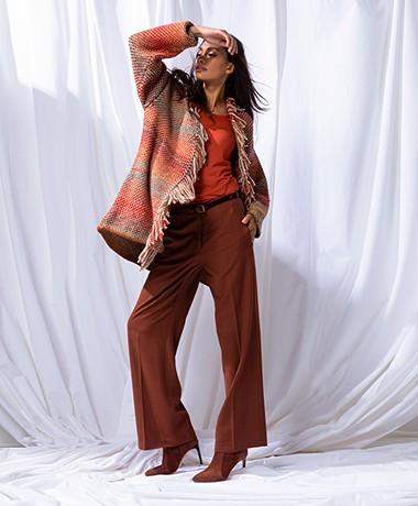 LaSalle Gerstekorrel Vest met Franjes - Multi-color